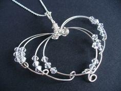 Sterling Silver Wire Work Heart Pendant  by looksgreatjewels, $78.00