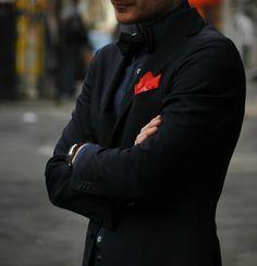 men styles, red, fashion styles, bow ties, men fashion, pocket squares, men suit, fashion accessori, black