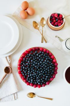 Berry Almond Yogurt Cake