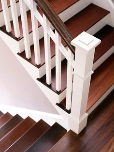 Wood and White Stairs <3
