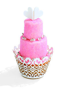 Tiered Cupcakes by Artesanal Sweets.  Photo: Halley Ganges; Prop Stylist: Wendy Schelah for Halley Resources #weddings