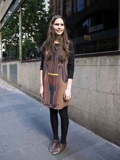 Cello Dress!  From Face Hunter Blog 11/22/10