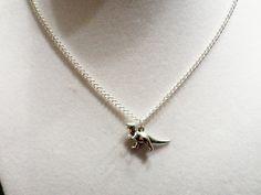 Tiny Dinosaur Necklace  RAWR by DeepFriedKudzu on Etsy, $15.00