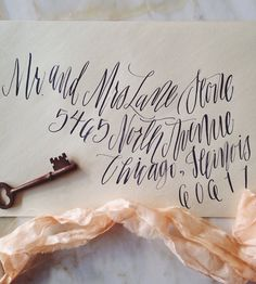 Calligraphy Envelope Addressing by Mon Voir on Etsy
