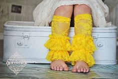 Girls Lace Ruffle Leg Warmers