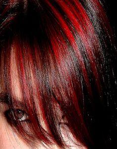 dark red highlights on pinterest mahogany highlights