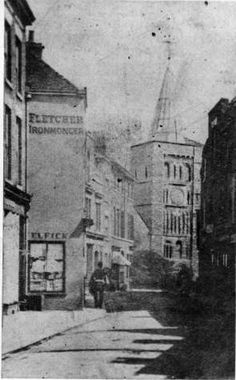 Biggin Street and St. Mary's Church, Dover.