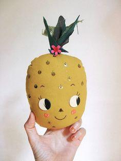 Pineapple. Decorative wall hook by misakomimoko