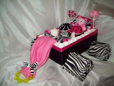 Zebra Diaper cake Wagon. $58.00, via Etsy.
