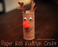 { Paper Roll Reindeer }