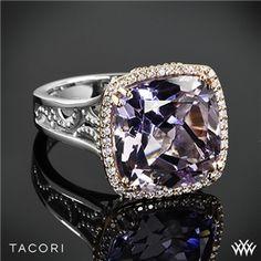 diamond engag, diamond rings, rose amethyst, blush rose