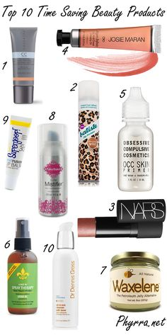 Top 10 Time Saving Beauty Products