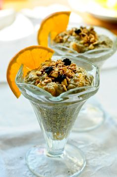 Orange chia breakfast pudding.