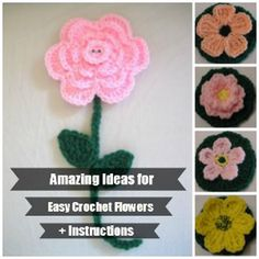 Free and easy flower crochet patterns for beginners