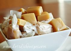 Microwave Caramels...10 minutes for homemade caramels. Sign me up.