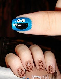 cookie monster nails - too cute