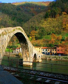 Devil's bridge in Tuscany Italy.