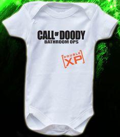 Call of Duty Doody Double XP Gamer Baby Onesie by OnesieO on Etsy, $12.99