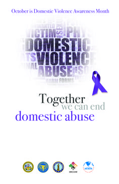 Together we can end domestic violence
