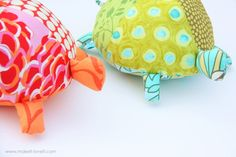 Stuffed Fabric Turtles (with pattern pieces) | Make It and Love It