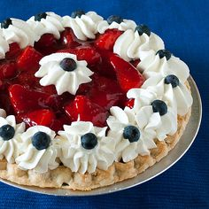 Easy 5 minute Patriotic Pie from my friend Laura @Realmomkitchen