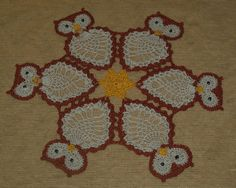 Crochet  Owl - Owls   Doily Pattern