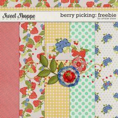 Berry Picking mini kit freebie from Amber Shaw