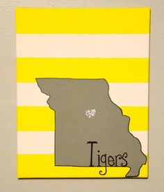 Mizzou Tigers 11x14 painted glitter canvas