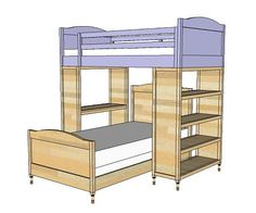Chelsea top bunk - ana white.com