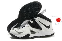 599263-100 White/Black-Metallic Silver Nike Zoom Soldier VII Halloween Discounts