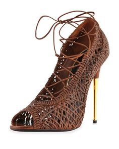 Napa Laces Pump, Caramel by Tom Ford