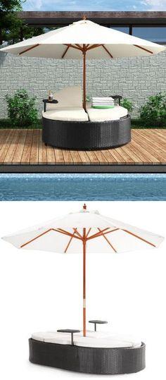 Canopy Double Outdoor Lounger ♥ L.O.V.E.