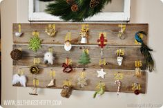 Fun countdown to Christmas! Use for a small tree in a kitchen or kids bedroom!
