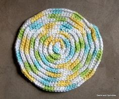Crochet Dishcloth Free Pattern Round | Free Patterns For