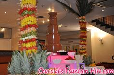 chocolate fountains, palm tree, dip, fruit palm, chocol fountain