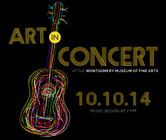 """Art in Concert is is October 10, 2014. """"The Owsley Brothers and The Pine Hill Haints"""" will be performing this year. Tickets are $10.00 in advance and $15.00 the day of the show. Get your tickets now by going on line to http://mmfa.org/support/fundraising-events/."""