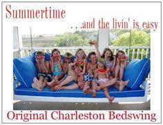 Original Charleston BedSwing: Beach Decor, Coastal Home Decor, Nautical Decor, Tropical Island Decor & Beach Cottage Furnishings