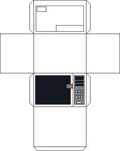 "Small Stuff's PrintMini: Printable Dollhouse Miniatures & Printies  1"" Scale Appliances:  Microwave Oven"