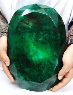 Teodora: Weighing in at a hefty 11 kilos (57,500 carats), the world's largest faceted 'emerald' was mined in Brazil and cut in India. Its name is Portuguese for gift of god.