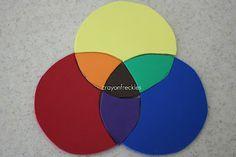 diy color wheel foam puzzle