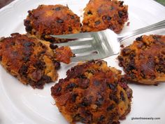 Roasted Black Bean Sweet Potato Cakes