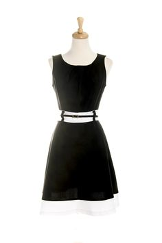 Classic. Little Black and White Dress