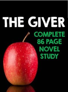 The Giver - Complete 86 Page Novel Study!
