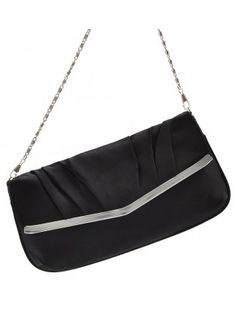 Classic Black Clutch with Chain
