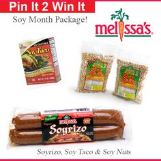 #MelissasProduce April #Giveaway is a special package with a couple of Melissa's best soy items! It's national SOY month after all! Re-pin & you might win! Good Luck!
