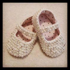 customização de sapatinho de bebe