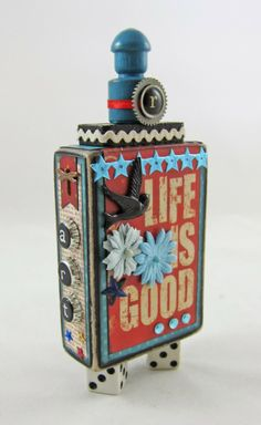 Life Is Good. Artist Trading Block (K.Batsel) trade block, artists, trade card, atc block, artist trade, artist trading block, paper crafts, card block, atc artist