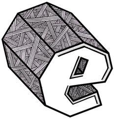 Zentangle letter