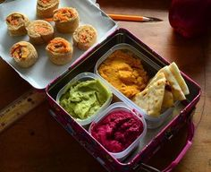 Hummus in lunchboxes
