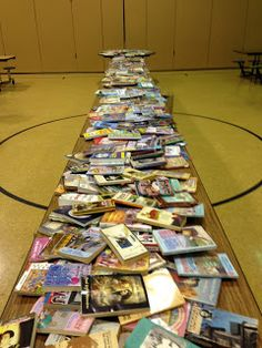 Bingo for Books - What a great idea for family literacy night!! Maybe a whole school idea? Pretty neat! Maybe kids could read a selection from a book they're reading. Neat!
